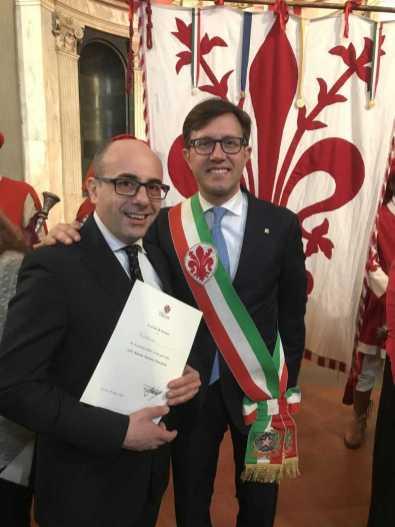 Gherardo e Dario Nardella durante la prima giornata attività storiche Fiorentine