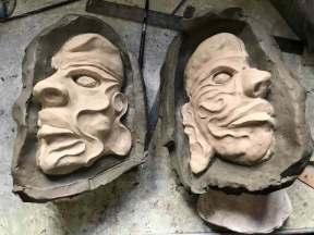 nell'immagine si vede Il modellato delle maschere