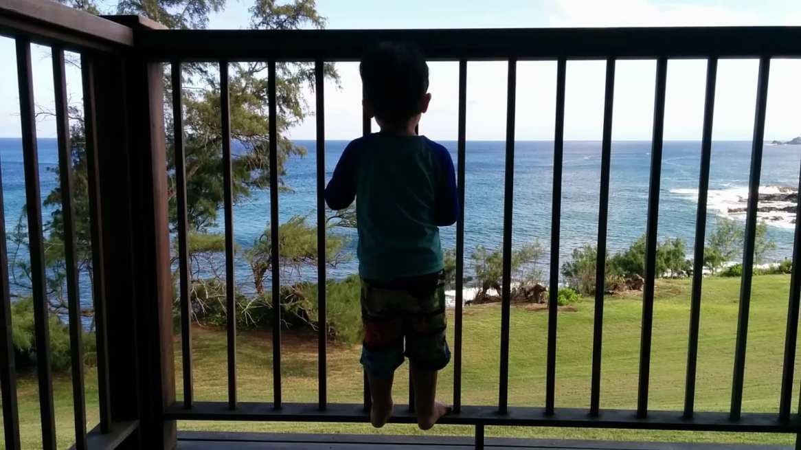 Balxony view from our room in Travaasa Hana