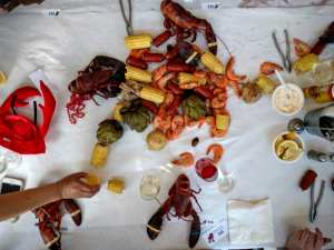 V. Sattui lobsterfest food