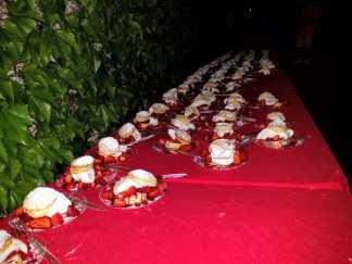 V. Sattui lobsterfest dessert table