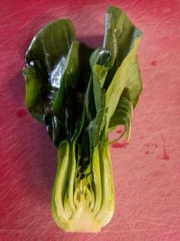 bok choy, sliced long-ways