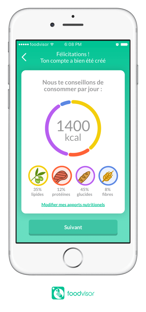 Foodvidor, la nouvelle application nutrition.