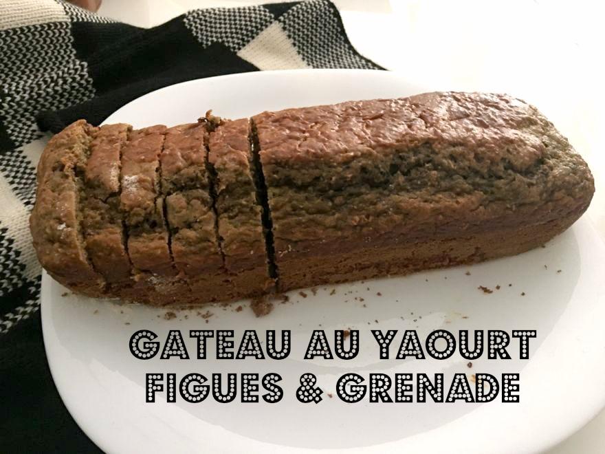 Gâteau au yaourt figues et grenade