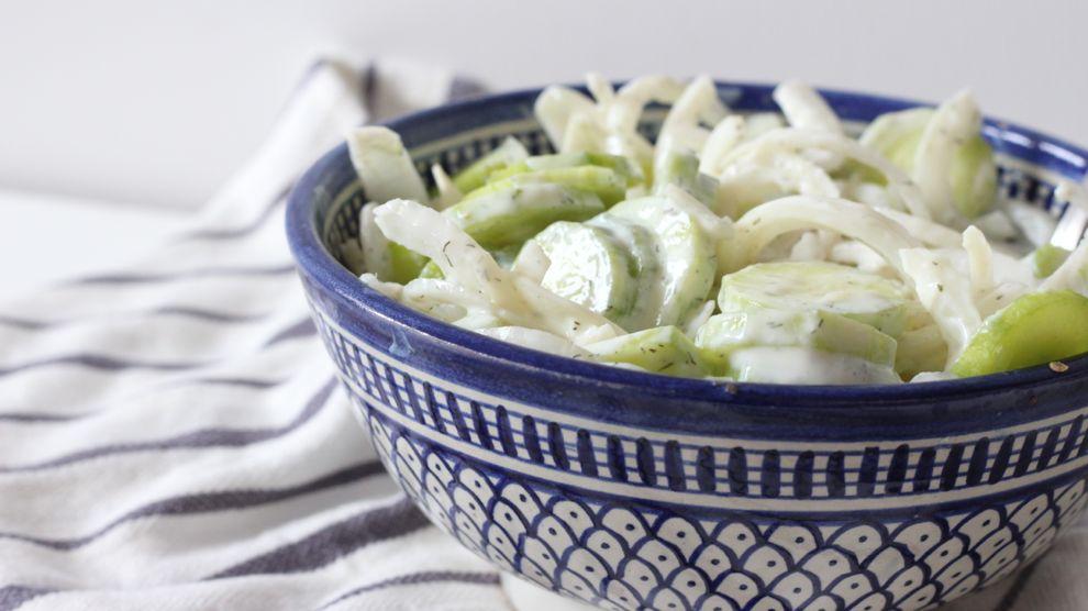 Salade concombres et oignons healthy
