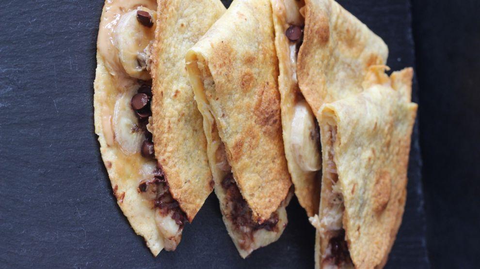 Tortillas chocolat banane pour votre collation