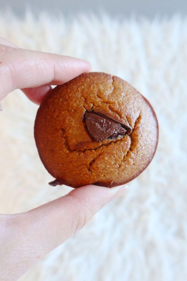Muffins compote de pomme, sans gluten.