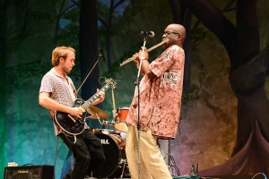 Guitar and flute duel at Guyana's National Theater