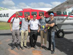 The plane that flew us to our gig in the Rupununi rainforest