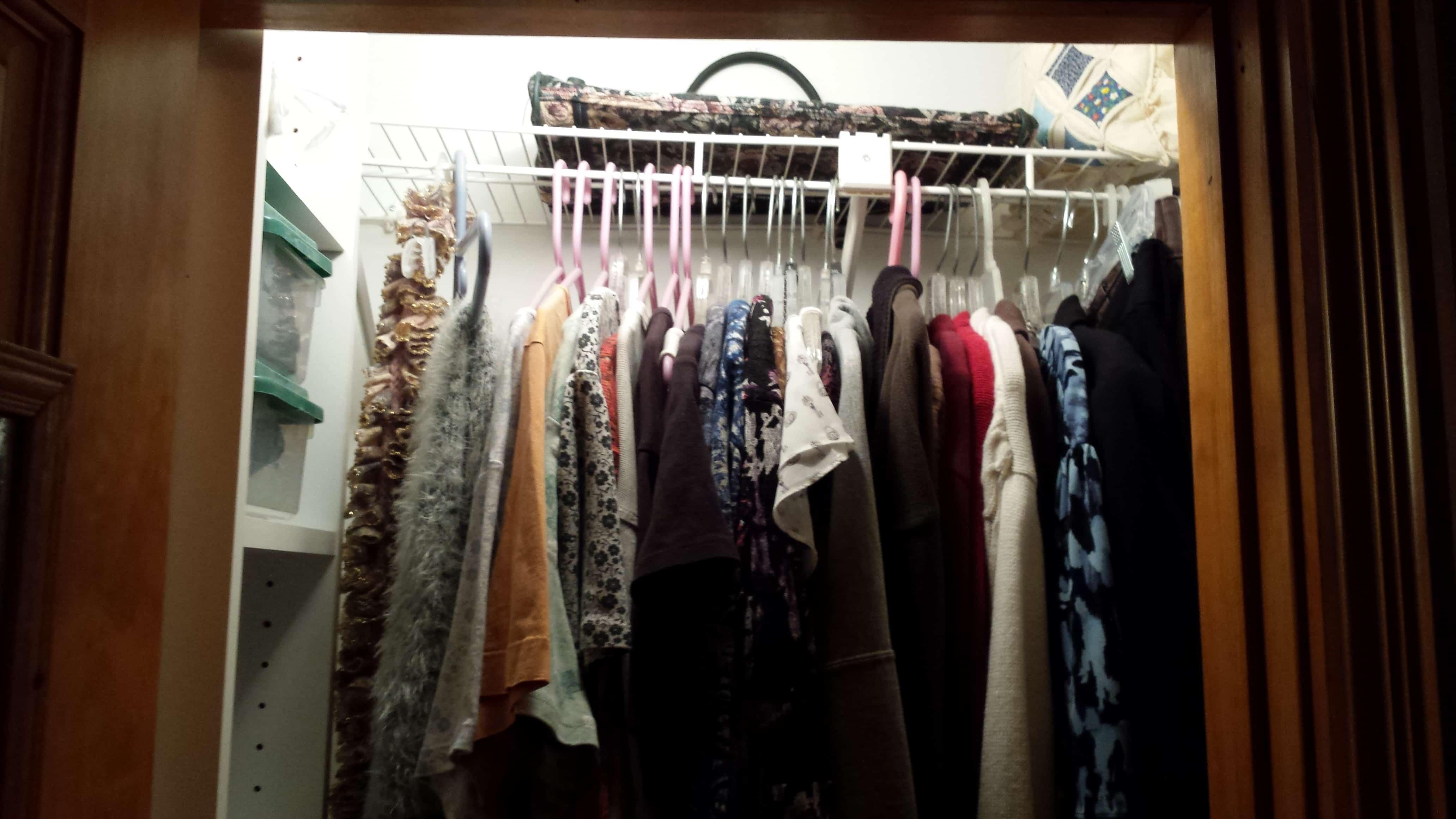 How To Organize A Small Master Closet   Www.fillingthejars.com   My Closet