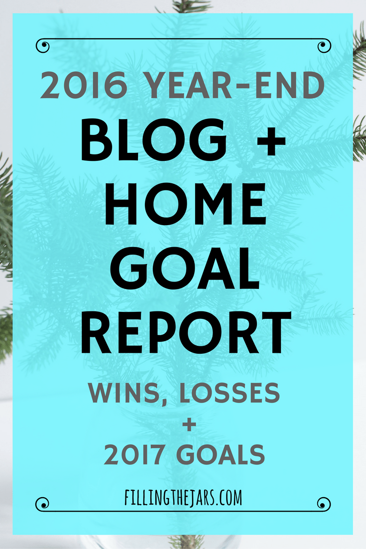First Blogiversary: 2016 Review and 2017 Goals   A review of my first year in the blogging world! Click through to read whether I accomplished my 2016 household and blog goals, if my side hustle produced an income, and what's ahead for 2017...   www.fillingthejars.com