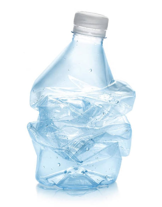 Single-use plastic bottle