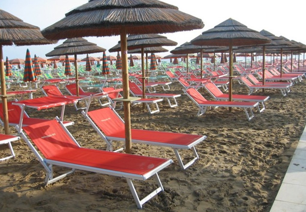SONNENLIEGE EXTRA PESANTE MARE Made in Italy
