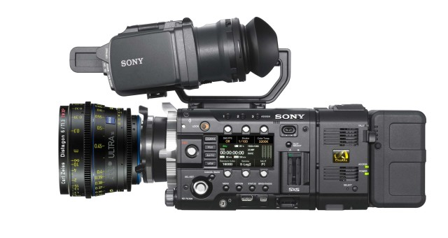 Sony F55 with ARRI/ZEISS Ultra 16 6 mm prime lens