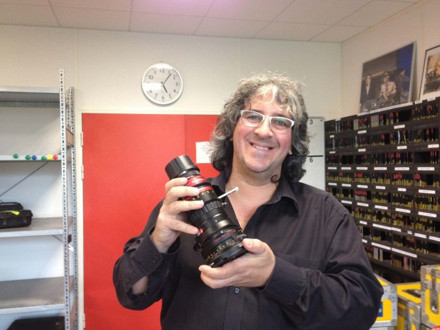 Danys Bruyere of TSF with Angenieux Anamorphic 56-152