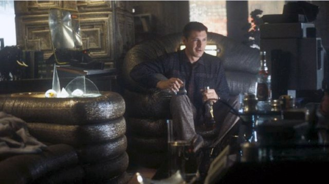 Deckard's leather suite complete with built in lighting. Story has it, it came from an LA nightclub