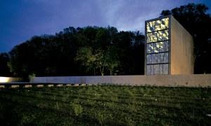 obra mausoleo peron exterior nocturno