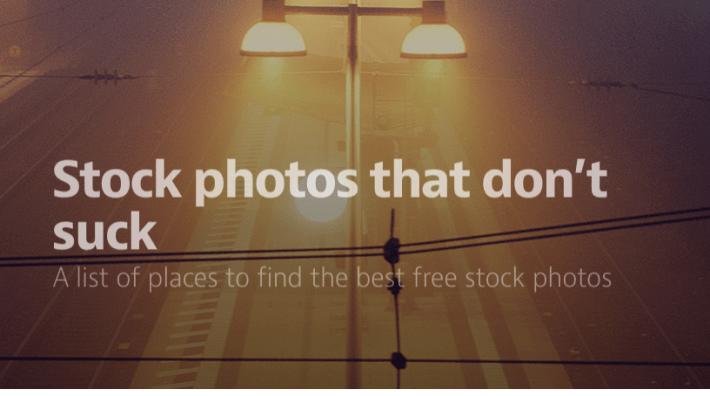 Fotos de stock que no apestan