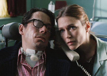 Mathieu Amalric and Marie-Josée Croze in The Diving Bell and the Butterfly