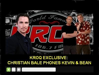 Christian Bale calls KROQ