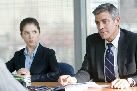 Natalie (Anna Kendrick) and Ryan Bingham (George Clooney) in Up in the Air