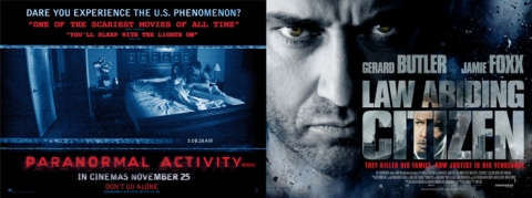 Paranormal Activity and Law Abiding Citizen