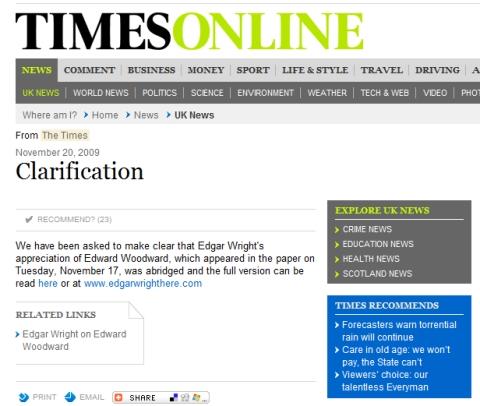 Times Edgar Wright clarification