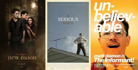 New Moon / A Serious Man / The Informant!