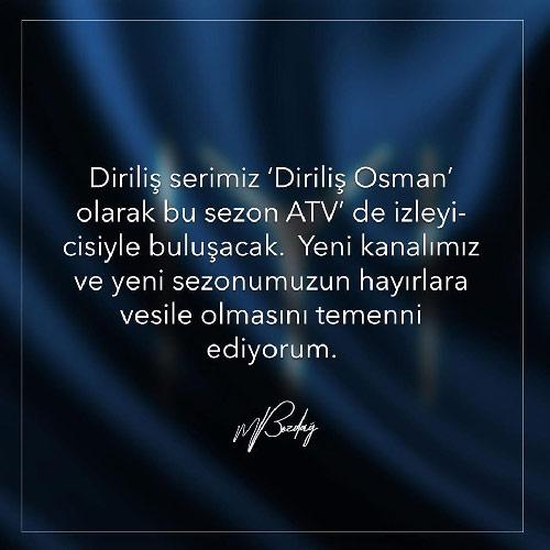 diriliş osman yeni kanalı