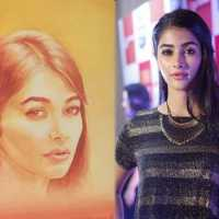 Pooja Hegdeâs childhood friend surprises her with a hand-painted sketch