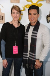 VP of Marketing at Udi's Granola and Gluten Free Foods Denise Sirovatka and TV personality Mario Lopez attend Udi's Gluten Free Cafe on January 18, 2013 in Park City, Utah.  (Photo by Gustavo Caballero/Getty Images for Udi's Gluten Free Table)