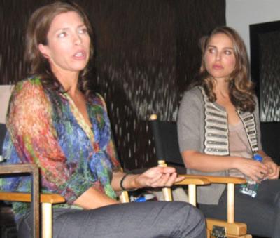 Natalie Portman and Christine Aylward