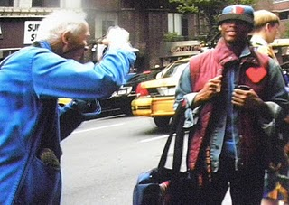 Bill at 'home' on the streets of New York