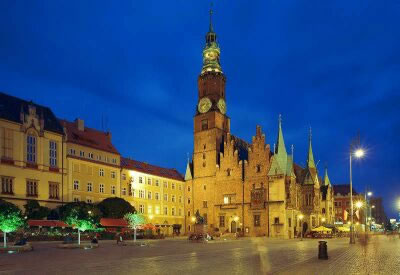 Wroclaw, Poland - City Hall's west facade