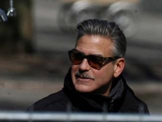 moustache george clooney