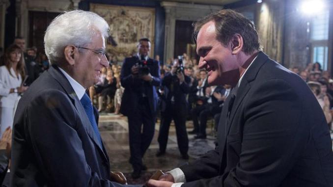 Mattarella a Tarantino,contro crisi non basterebbe Mr Wolf