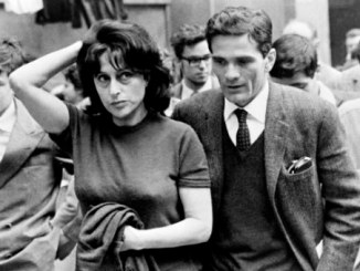 """A photo taken on 1962 in Roma shows Italian writer and films' director Pier Paolo Pasolini (C)and the main characters of his film """"Mamma Roma"""", Italian actress Anna Magnani (on his R) and actor Ettore Garofolo (L).  AFP PHOTO        (Photo credit should read STRINGER/AFP/Getty Images)"""