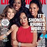 La versione di EW con Shonda Rhimes, Ellen Pompeo, Viola Davis e Kerry Washington.