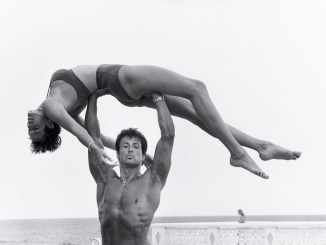 sylvester stallone and brigitte nielsen by herb ritts