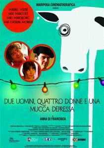 locandina commedia due uomini quattro donne e una mucca depressa