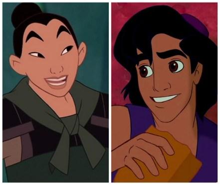 Mulan en Aladdin