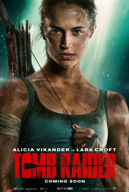 Nieuwe poster Tomb Raider met Alicia Vikander