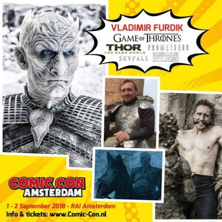 Vladimir Furdik (Night King uitGame of Thrones) komt naarComic Con Amsterdam