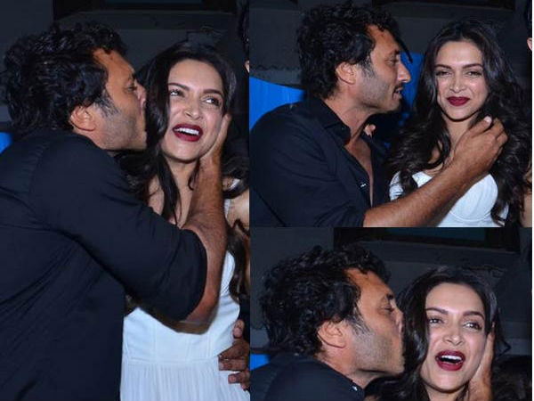 Homi Adajania Kisses Deepika Padukone Inspite Of Her