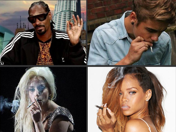 Image result for celebrities smoking weed
