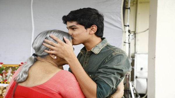 Reel-Life Ramu Takes Blessings From Real-Life RGV's Mother