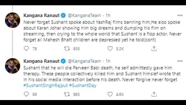'Never Forgive, Never Forget,' Says Kangana Ranaut