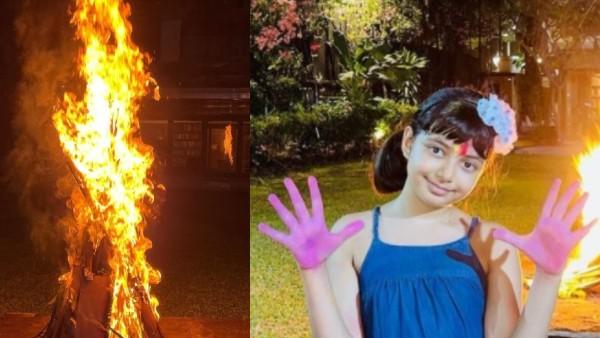 Aishwarya Rai Bachchan's Holi Celebration: Aaradhya Is All Smiles As She Flaunts Her Coloured Hands