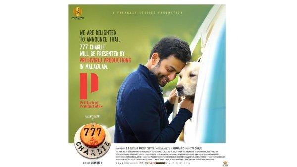 Prithviraj Sukumaran To Present Rakshit Shettys 777 Charlie In Malayalam!