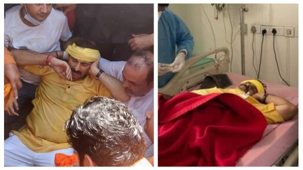 Actor And BJP Leader Manoj Tiwari Gets Injured During Protest Against Ban On Chhath Celebrations In Delhi